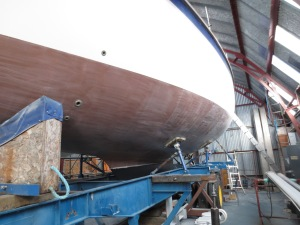 The hull was copper coated