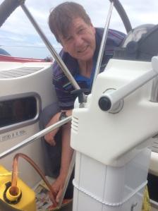 Fuel transfer at sea