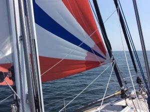 progress under cruising chute
