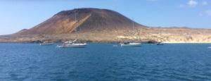 Playa Francesca anchorage